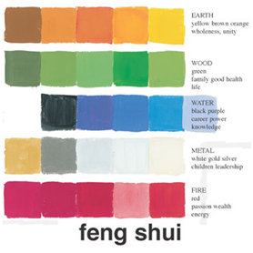 feng shui salon couleur
